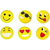 Antivibradores de vibración de tenis Amortiguadores (Emoji) 6 piezas