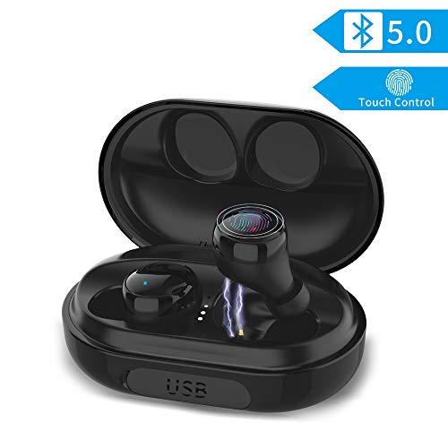 Auricolari Bluetooth 5.0 Senza Fili, Cuffie Wireless con 3500mAh Custodia da Ricarica Stereo Senza Fili Sportivi in Ear Leggeri Hi-Fi per iPhone Huawei Xiaomi Samsung