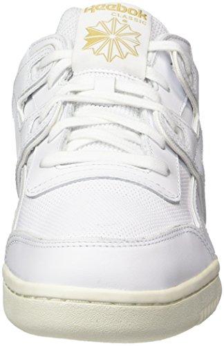 Reebok Workout Plus Alr, Scarpe da Ginnastica Uomo Bianco (White/Chalk/Snowy Grey/Rbk Brass)