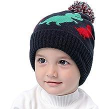fb3f1a1f4dce3 Snyemio Sombreros Bebé Gorras de Punto Invierno Lana Calentar Felpa para  Niñas y Niños