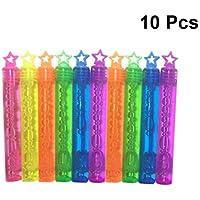 YeahiBaby Burbujas de Jabón de Estrella para Niños para Playa Fiestas Boda 10 Piezas (Color al Azar)