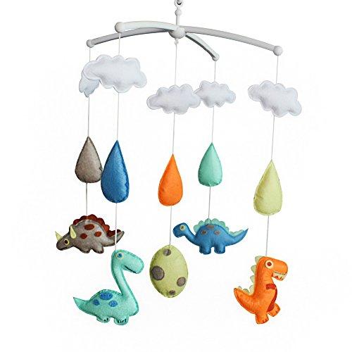 Handgemachte Baby Krippe Musical Mobile [Dinosaurier] bunte Zimmer Dekor (Dekor Dinosaurier Zimmer)
