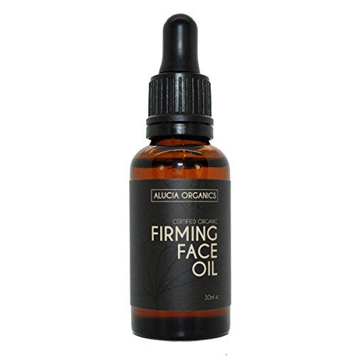 Huile pour le visage raffermissante certifiée bio (Firming Face Oil) de Alucia Organics 30 ml - une huile anti-âge puissante aux huiles de jojoba, d'argan, d'églantier et d'onagre biologiques