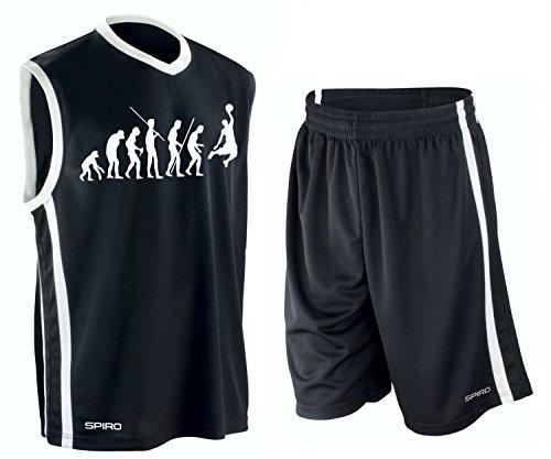 BASKETBALL - Evolution ! TRIKOT TANK mit Hose Shirt schwarz Gr.M