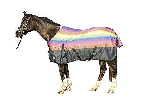 HKM 83665863.0036 Weidedecke Rainbow mit 300g Wattefüllung, grün/mittelblau