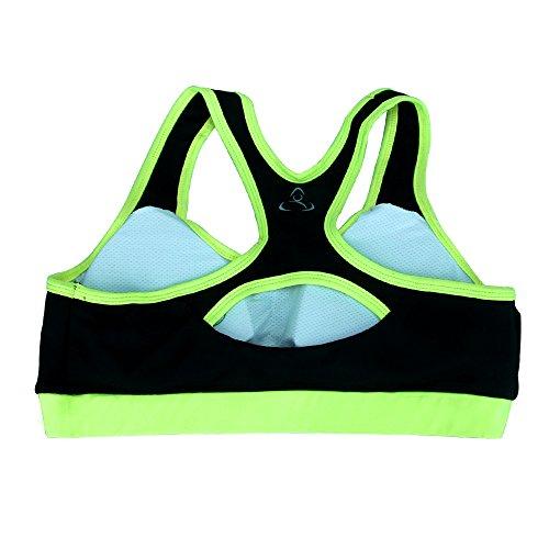 WILLIAM&KATE Sport schnell trocknen Einzug Unterwäsche BH Breathable Yoga Suit Fitness Weste Grün