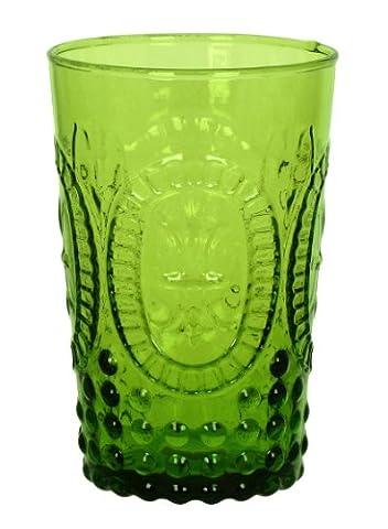 Zrike marques de la Renaissance en verre pressé Goblet Verre à jus Green