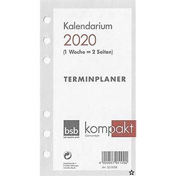 Succes Senior 1Woche//2Seiten Kalender 2020 Jahresbox ISD7.20 deutsch Kalendarium