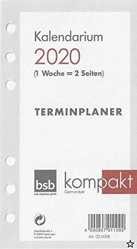 Obpacher Verlag 02-0058 - Kalendarium Time-Planer Pocket A6 1 Woche auf 2 Seiten (2020)