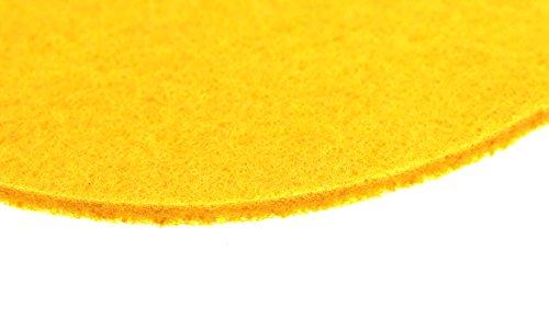 Filz Untersetzer Rund 8 Stück Gelb 10x10x0,3cm