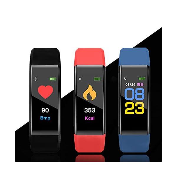 MENGZHEN 1 UNID Y3 Monitor de Actividad del Ritmo cardíaco Pantalla táctil Usable Podómetro Bluetooth Pulsera Inteligente con Monitor de sueño 5