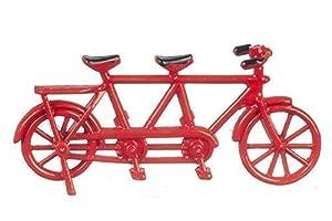 Melody Jane Puppenhaus Rot Tandem Fahrrad Hergestellt für Zwei Kleine Miniatur