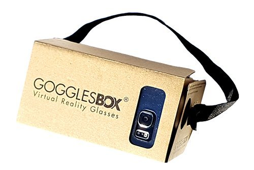 Google Cardboard 3D Virtual Reality Headset große Linse 3D DIY VR Cardboard Brille mit Kopfband Nasenauflage , kompatibel mit 3.5-4.7 Zoll Bildschirm Android und Apple Smartphone