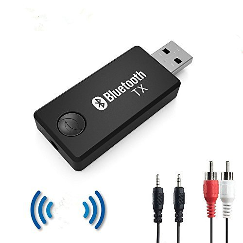 Bluetooth Transmitter für TV Kopfhörer iPod MP3 / MP4 PC Home Audio System, Wireless Bluetooth 3.5mm Stereo Audio Adapter Transmitter, High-Fidelity-Stereo, Plug & Play, Stromversorgung über USB