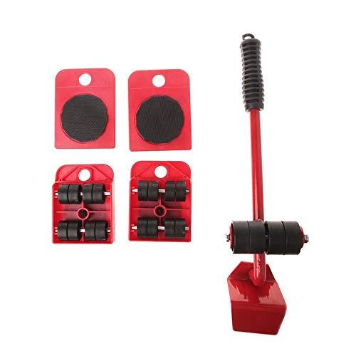 Set 5-teiliges Set Kunststoff Mover Gelber Absatz - Rot ()
