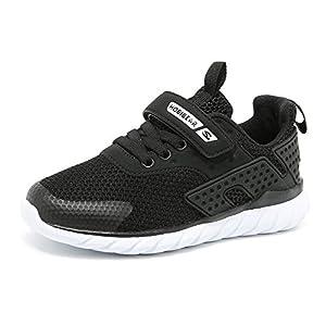 populalar Turnschuhe Kinder Sneaker Jungen Sportschuhe Mädchen Hallenschuhe Outdoor Laufschuhe Für Unisex-Kinder Schwarz Weiß Rosa Grau 25-36 EU