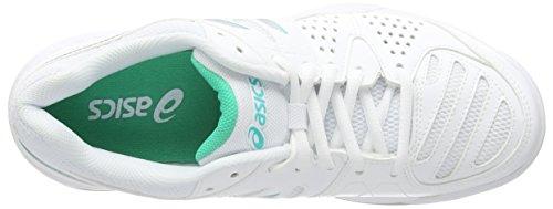 Asics Gel-dedicate 4 Indoor, Chaussures de Tennis Femme Blanc (white/silver/mint 0193)