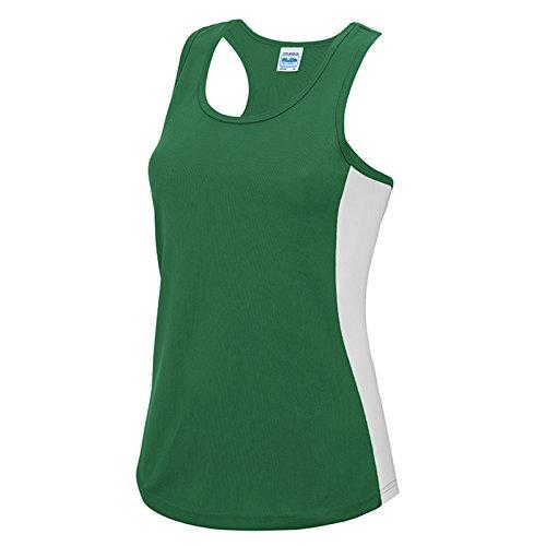 AWDis Damen Modern T-Shirt Gr. XS, Kelly Green/ Arctic White (Go T-shirt Ringer Green)
