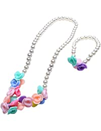 El Regalo's Kids/Girls Candy Colors Beads Jewelry Set | Multi Colored Acrylic Beads Necklace & Bracelet Jewelry...