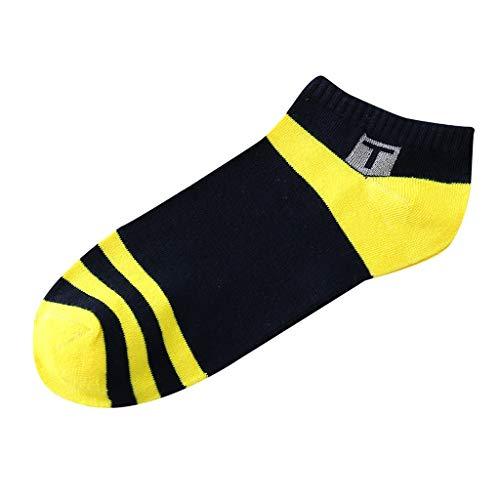 QUINTRA Socken Unisex Streifen Patchwork Unsichtbare kurze Socken Lässige Haltbarkeit Baumwoll-Sportsocken - Nicht Elastische Komfortbund