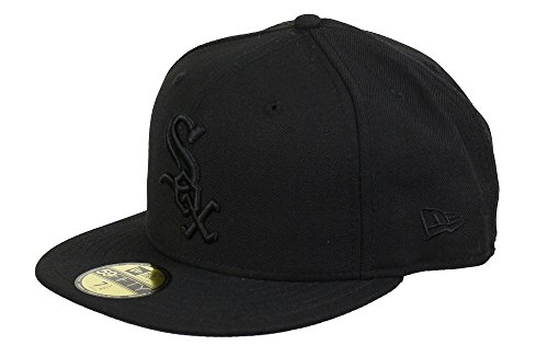 New Era Herren Fitted Cap Black On Black Chicago White Sox schwarz schwarz 7 5/8 - 60,6cm