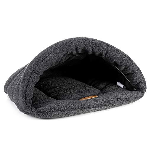 Ispchen morbido caldo cuccia per animali nido di caverna, gatto cucciolo sacco a pelo letto animale stuoia dormire cuscino letto cave accogliente casa gabbia cave capanna casa cestino staccabile
