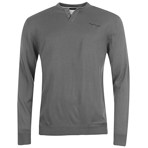 Pierre Cardin Sweat Pull Col V Homme (S, Gris)