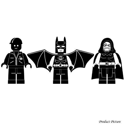 Lego, Lego-Figur, Lego Figuren, Lego Menschen, Menschen, Lego Spiel, Batman (60cm x 23 cm) Wählen Sie die Farbe 18 Farben auf Lager Badezimmer, Childs Schlafzimmer, Kinder Zimmer Aufkleber, Auto Vinyl-, Windows-und Wand-Aufkleber, Wand Windows-Kunst, Decals, Ornament-Vinylaufkleber ThatVinylPlace