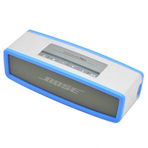 iprotect Schutzbox Abdeckung für Bose SoundLink Mini Lautsprecher Soft Cover Case in transparent und Blau