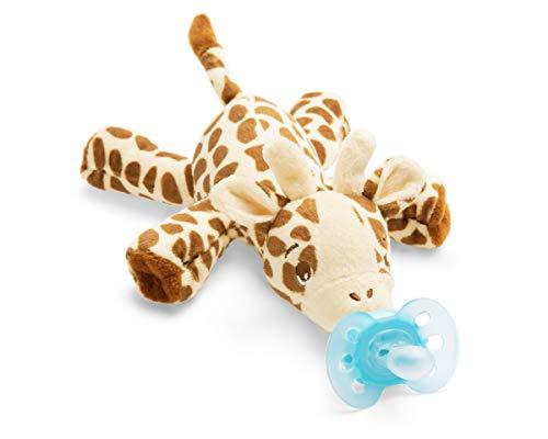Philips Avent Snuggle Giraffe SCF348/11, Kuscheltier mit Schnuller ultra soft, perfektes Geschenk für Neugeborene und Babys, Schnullertier (Mit Baby-schnuller Plüschtier)