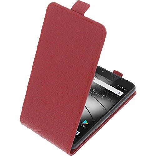 foto-kontor Tasche für Gigaset GS270 / GS270 Plus Smartphone Flipstyle Schutz Hülle rot