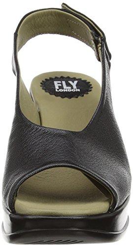 FLY London Damen Hatt680fly Plateau Schwarz (Black 000)