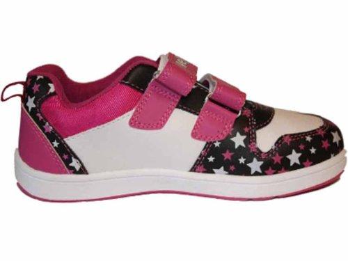 Socks Uwear , Mädchen Sneaker Black-Pink-White