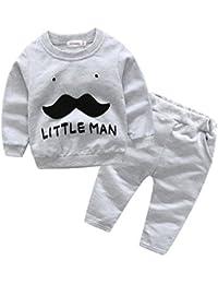 Amlaiworld Camisetas de manga larga Bebé + Pantalones para Bebé Niños Niñas Otoño Invierno Ropa Conjunto 3 Mes - 2 Años