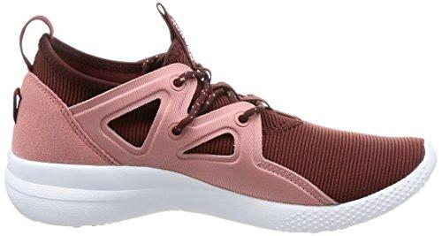 Reebok Cardio Motion, Chaussures De Sport D'intérieur Femmes Rouge (burnt Sienna / Sandy Rose / Blanc)