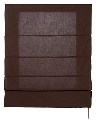 Estores Basic- Plegable con Varillas, Chocolate, 120x175 cm