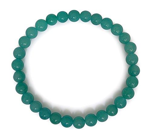 Amazonite Armband, natürlich, blau, rund, 6mm