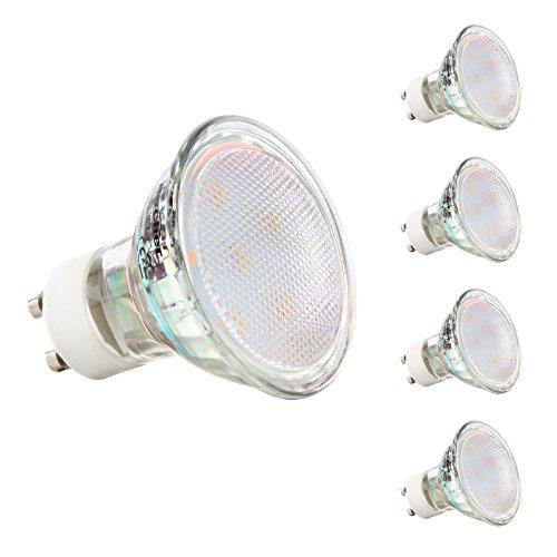 GU10 LED Lampen - Ascher 3W MR16 GU10 LED Lampen [ 280lm, Ersatz für 30W Halogenlampen,Warmweiß, AC 220 -240V,120° Abstrahwinkel] LED Birnen, LED Leuchtmittel, 4er Pack
