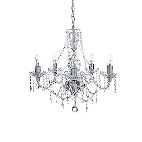 5 Light Chandelier Crystal Living Room Bedroom Dining Room
