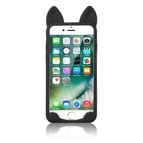 iPhone 6S Plus 5,5 Zoll Hüllen, TechCode® Niedlich 3D Cartoon Katze Tier Typ Gel Weich Case Stoßfest Apple iPhone 6 Plus 5.5'' (iPhone 6 Plus, A01) A01
