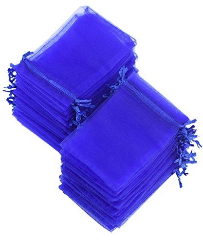 FiveSeasonStuff Azul Organza Bolsas Bolso Boda Favores