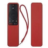 Protective Silicone Remote Case for XIAOMI MI Box S Remote Cover Shockproof Remote Holder for MI Box S Remote Anti-Slip Anti-Lost with Lanyard (Red)
