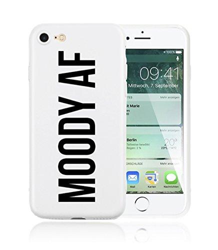 iPhone 7 Plus / iPhone 8 Plus Hülle AVANA® ultra dünne Schutzhülle flexibles & federleichtes Case Etui schwarze Apple Handyhülle Tasche Silikon Cover extra Kameraschutz (YOUR LOSS, BABE. black) MOODY AF white