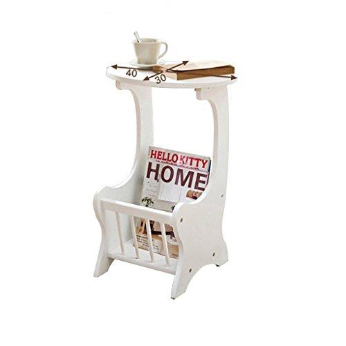 MEILING Table basse de table de téléphone, Assemblée en bois, 28 * 30 * 59.5 cm, couleur blanche