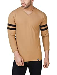 Fabstone Collection Men's V Neck Full Sleeves Cotton T-Shirt