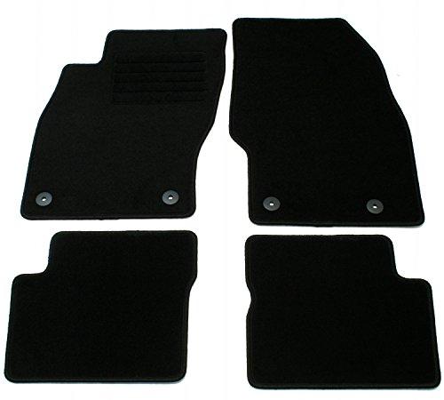 AD Tuning GmbH HG12055 Velours Passform Fußmatten Set Schwarz Autoteppiche Teppiche Carpet Floor mats