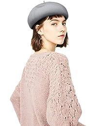 Superora Boinas Francesa Sombreros de Mujer Vintage Fiesta Gorro Beret  Francés Beanie Primavera y Verano 7b7d01650e8