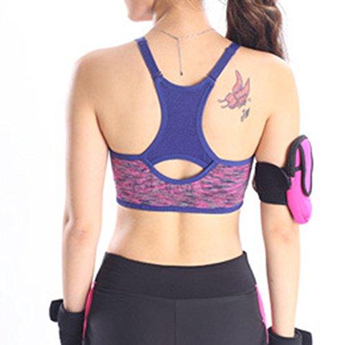 ishine soutien-gorge de sport fitnesse running youga underwear femme Violet