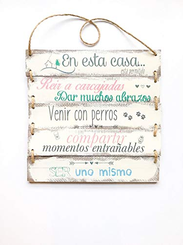 Cartel vintage madera personalizable 30x32cm-
