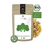 alveus® Bouncing Broccoli Veggie Tea BIO: Lose Teemischung mit Broccoli, Kohl, Karotte, Paprika, Petersilie, Bohnenkraut, Spirulina und Muskat, 100g Tüte